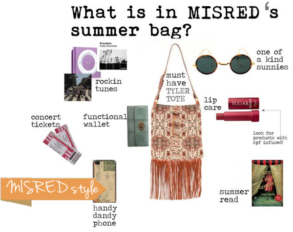 what's inside misred's bag tytler tote